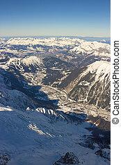 vallei, alpen, chamonix