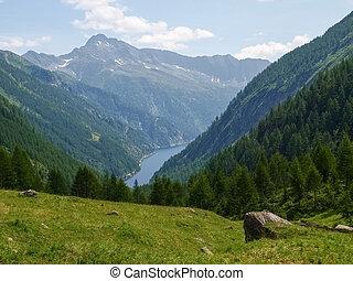 View of val sambuco - Vallemaggia, Ticino, Switzerland: View...