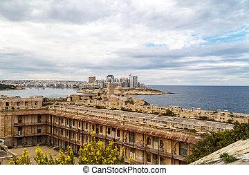 Valletta Cityscape View