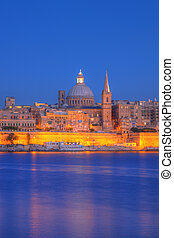 Valletta, Malta - View of Valletta with Our Lady of Mount...
