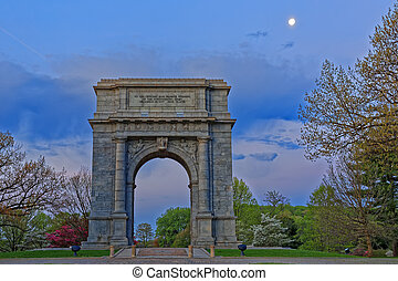 Valley Forge National Memorial Arch at Dawn