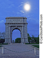 Valley Forge National Memorial Arch in Moonlight