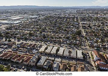 Valley Haze and Sprawl Los Angeles Aerial