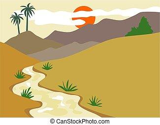 Valley illustration.