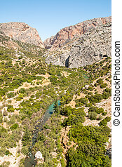 Valley in Caminito del Rey