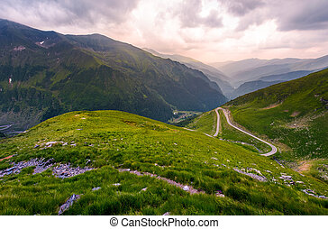 valley in Fagarasan mountains in afternoon. beautiful nature...