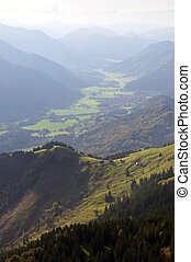 Valley in the Alps