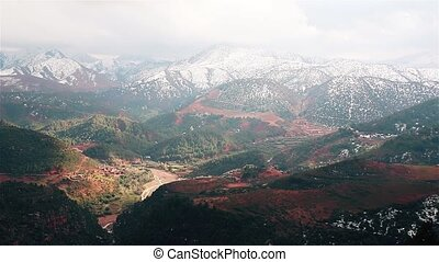 Valley in the Atlas Mountains Morocco - Valley in the Atlas...
