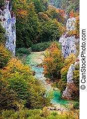 Valley Landscape in Autumn