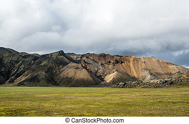 Valley National Park Landmannalaugar, Iceland in the July
