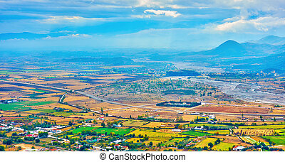 Valley near Kalambaka town - Colorful valley near Kalambaka ...