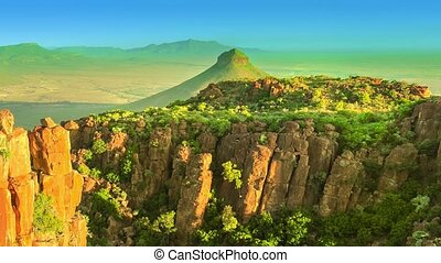 Valley of Desolation Panorama - Panorama of Valley of...