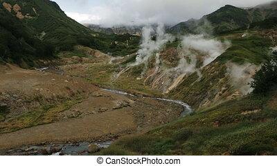 Valley of Geysers in Kamchatka Peninsula - Valley of Geysers...
