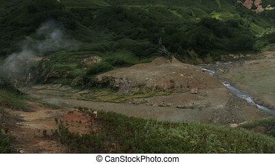 Valley of Geysers in Kamchatka Peninsula stock footage video