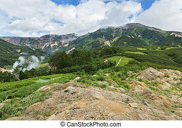 Valley of Geysers. Kronotsky Nature Reserve on Kamchatka Peninsula.