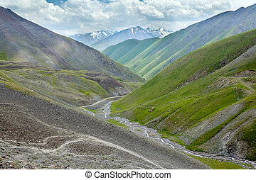Valley of Kegety river in Tien Shan mountains