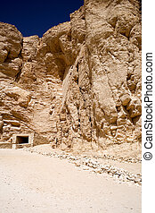 Valley of the Kings - Image of the entrance to a tomb and...