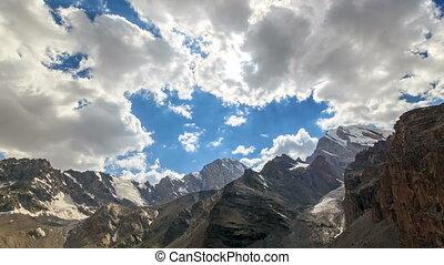 Valley of the Sun. Zoom. TimeLapse. Pamir, Tajikistan