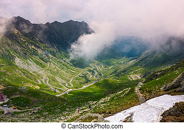 valley of Transfagarasan route in summertime. gorgeous view...