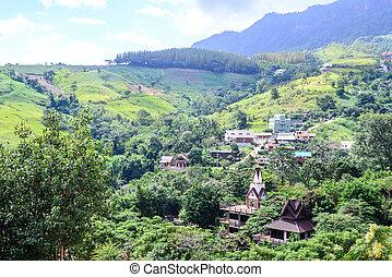 Valley village at Phu Tabberk in Phetchabun, Thailand.