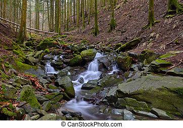 Vallombrosa forest, waterfall 1