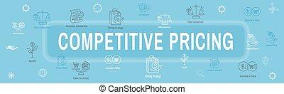 valor, conjunto, rentabilidad, valorar, icono, y, competitivo, crecimiento