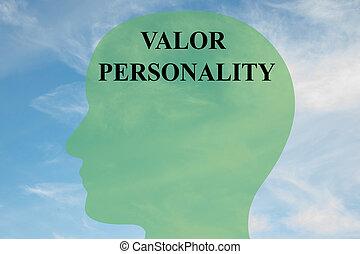 Valor Personality concept - Render illustration of 'VALOR...