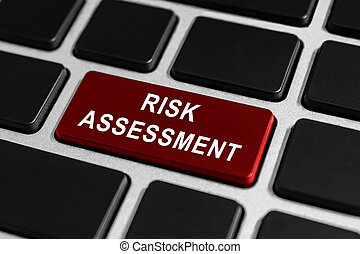 valoración de riesgo, botón, en, teclado