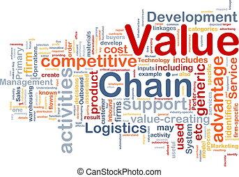 valore, concetto, catena, fondo