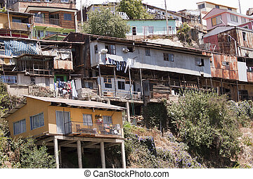 valparaiso, スラム