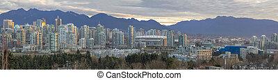 vals, kreek, bc, panorama, skyline, vancouver, langs