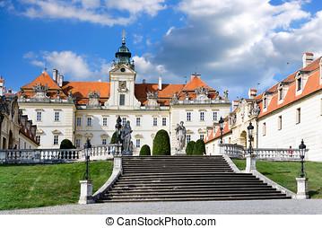 valtice, tcheco, (unesco), república, barroco, chateau