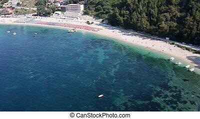 Valtos beach Parga Greece summer season