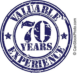 Valuable 70 years of experience rub