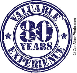 Valuable 80 years of experience rub