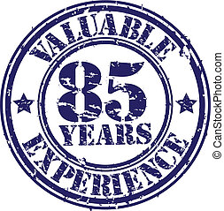Valuable 85 years of experience rub