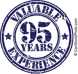 Valuable 95 years of experience rub