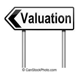 Valuation concept.