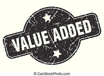 value added round grunge isolated stamp