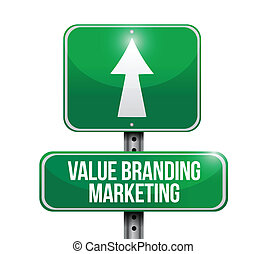 value branding marketing road sign