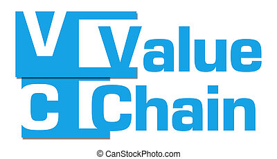 Value Chain Abstract Blue Background