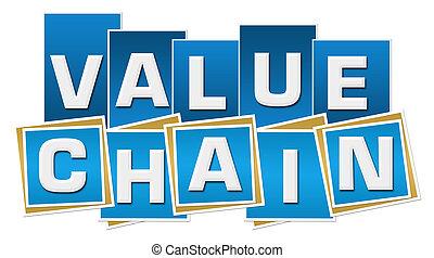 Value Chain Blue Squares Stripes