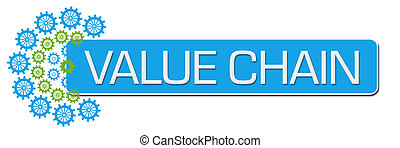 Value Chain Green Blue Gears