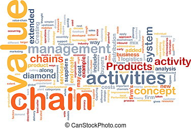 Value chain word cloud - Word cloud concept illustration of...
