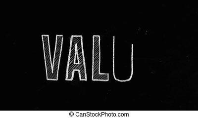 Value Concept Written On Blackboard