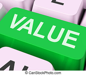 Value Key Shows Importance Or Significance - Value Key On ...