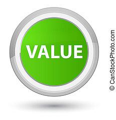 Value prime soft green round button