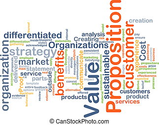 Value proposition background concept - Background concept...