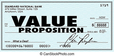 Value Proposition Check Money Selling Buying Benefits Products