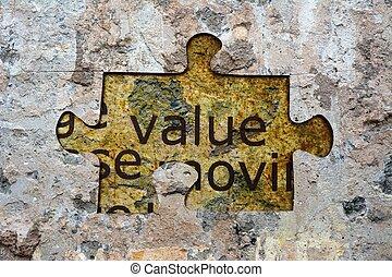 Value puzzle concept
